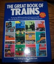 THE GREAT BOOK OF TRAINS - Hollingsworth & Cook - HC - EUC!