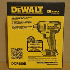 "Brand New DeWALT DCF880B 20V Li-Ion 1/2"" Cordless Impact Wrench w/ Detent Pin"