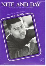 """Al B. Sure """"Nite And Day"""" Sheet Music-Piano/Vocal/Guitar- Extremely Rare-1988-New"""