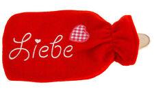 Valentinstag XL Wärmflasche ROT LIEBE Wärmeflasche 2 Liter Wärm Geschenk Love