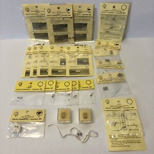 Dollhouse lot 22 outlets Plugs & Hollow Eyelets Slide Brass Switch Plate Splice