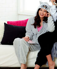 Super Soft Owl Cozy Coveralls Blanket Sleeper One Piece Pajamas Women L 14/16