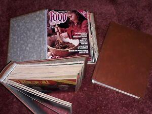 "Vintage ""The Food Magazine"" 1979, 1980 1981 in original hardback folders BUNDLE"