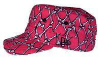 New Era Jeremy Scott Bones Argyle Military Hat Cap PINK RARE!