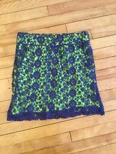 Knitted Dove Anthropologie Blue & Green Straight Crochet Knit Skirt, Size Small