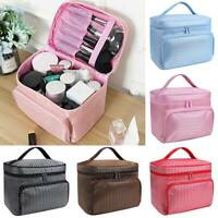 Womens Portable Travel Makeup Cosmetic Organizer Bag Vanity Case Hangbag Pouch