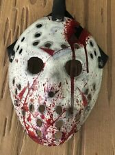 Jason Voorhees Part 4 Extra Blood Splatter Hand Painted Mask Friday The 13th