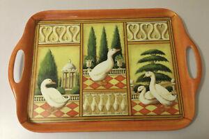 Vintage wilscombe Melamine handled tray italian geese