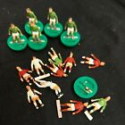Subbuteo Players For Spares Or Repair. Green, Red And White Football Strips.....