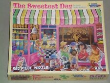 (2011) WHITE MOUNTAIN PUZZLES 550 Piece Jigsaw Puzzle THE SWEETEST DAY COMPLETE