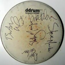 GARBAGE Version 2.0 Tour Concert used REAL hand SIGNED Drumhead All 5 COA RARE
