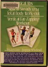Joyce Vedral Vertical Abs Slow & Steady 1234 Total Body workout Dvd (Ex-Lib)
