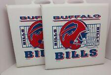 BUFFALO BILLS (2) Vintage 90s Stadium Seat Cushions Handle Padded Kelly Reed NFL