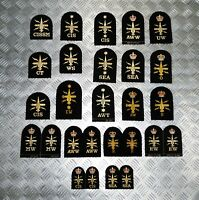Genuine Royal Navy Embroidered Assorted Branch Qualification Badges Various