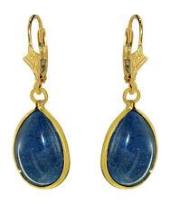 Große Lapis Lazuli Ohrhänger Gold 750 Goldohrringe - Goldohrhänger - Ohrschmuck