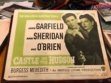 Castle On The Hudson 1949RR Warner Brothers title lobby card John Garfield Ann S