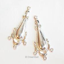 2xsterling Silver Chandelier Flower Earring Connector 35mm se202w