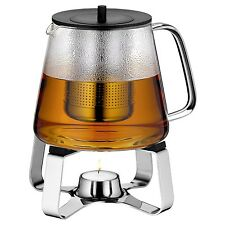 WMF TeaTime Teapot and Teapot Warmer 46oz Glass and 18/10 Stainless Steel