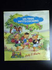 Rare Joli ancien petit livre illustré Les 3 petits cochons Molly Thomson