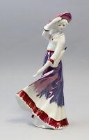 9943164 Porzellan Figur Dame mit Hut und Schirm Gräfenthal Thüringen H28cm