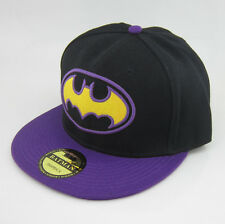 New Batman Purple Black hiphop Snapback Adjustable baseball cap flat hat Costume