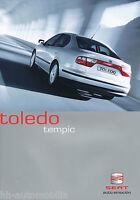 Seat Toledo Tempic Prospekt 2003 1/03 Autoprospekt Sondermodell brochure catalog