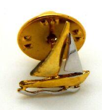 Pin Spilla Barca A Vela Bicolore cm 1,3 x 1,4
