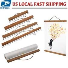 Wood Frame Hanger Magnet Poster Picture Diy Wall Art Decoration Portable Modern
