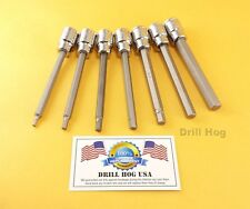 Hex Bit Sockets 3mm, 4mm, 5mm, 6mm, 7mm, 8mm, 10mm Key Allen Wrench Drill Hog