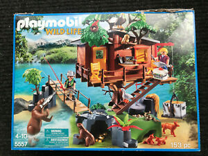 Playmobil Wildlife Adventure Tree House #5557 Forest Animals Bridge Complete