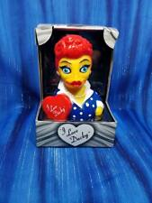 I Love Ducky CelebriDuck Rubber Duck Lucille Lucy Ball Fans NIB NEW!