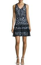 SOLD OUT!!! Bnwt Michael Kors dentelle bleue robe. US Taille 6/UK Taille 10. $268
