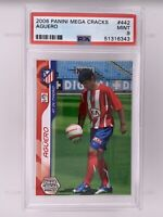 2006 Panini Megacracks Sergio Kun Aguero Rookie RC #442 PSA 9 Pop 2 None Higher