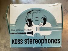 Vintage Koss Headphones Very Rare Brown And Gold With Original Box