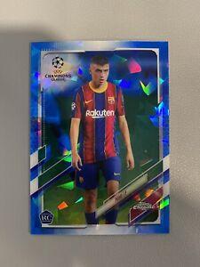Pedri 2020-21 Topps Chrome UEFA Sapphire Barcelona Spain Rookie RC, SPAIN