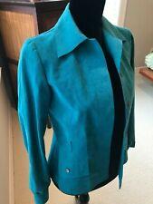 Abe Schrader by Belle Suander Ultrasuede Jacket/Skirt Vintage 1970s-Turquoise-S6