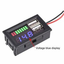 LED Digital Voltmeter Voltage Meter Volt Tester Dual USB 5V 2A For DC 12V Car