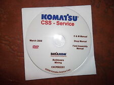 KOMATSU MINING BULLDOZERS SERVICE SHOP REPAIR MANUAL CD