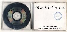 Cd FRANCO BATTIATO Breve invito a rinviare il suicidio PROMO EMI 1995 Cds single