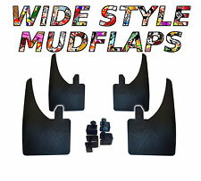 4 X NEW QUALITY WIDE MUDFLAPS TO FIT  Hyundai Pony / Excel FREE CLAMPS