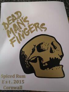 Dead Man Rum Image Decal Vinyl Sticker Mancave, Bar, drink