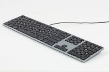 Matias Aluminium Extended USB Keyboard Tastatur US-Layout Mac OS space-grey