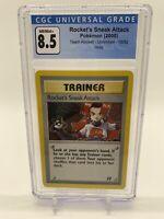 Pokémon Rocket's Sneak Attack Holo-Team Rocket Unlimited 16/82-CGC NM/Mint 8.5