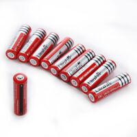 10Pcs 18650 Batteries 6800mAh Li-ion 3.7V Rechargeable For LED Flashlight Lot US