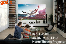 BenQ W2000 3D Rec 709 HDTV FULL HD HOME THEATRE CINEMA PROJECTOR 2 Free Glasses