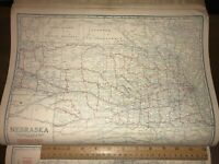 1924 Nebraska Cram's U.S. Auto Trail Highway & Commercial Map, Very Detailed