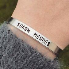 Shawn Mendes Bracelet Silver Cuff Bracelet Handmade Jewellery