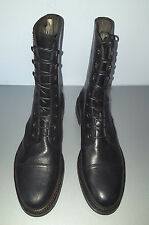 RALPH LAUREN MACOMB BLK LADIES DISTRESSED CALF LEATHER BOOT SZ 11B MADE IN ITALY