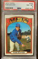 1972 Topps #445 Tom Seaver Card - HOF - Mets - PSA 8 - NM-MT - 45651833 - (SCA)