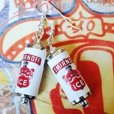 Unique SMIRNOFF Ice Orecchini realizzato a mano Vodka Bere in miniatura possono Designer Cool